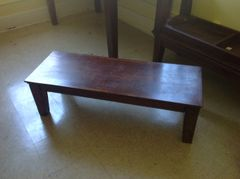 "Solid Wood Bench 14"" High"