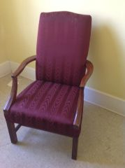 Burgandy Side Chair