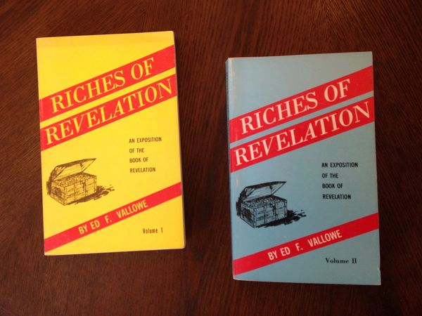 SOLD Riches of Revelation by Ed F. Vallowe- 2 Volumes