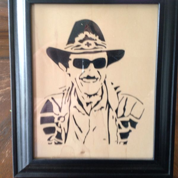 Richard Petty Framed Wood Carved Picture