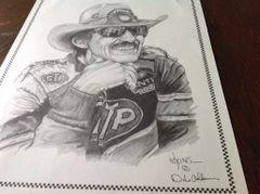 "Dale Adkins Drawing of Richard Petty 11"" x 14"""