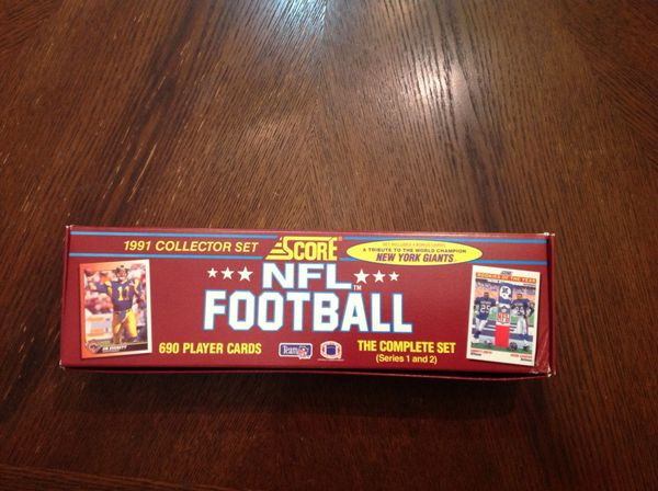 1991 Collectors Set Score Brand NFL Football Cards Series 1 & 2