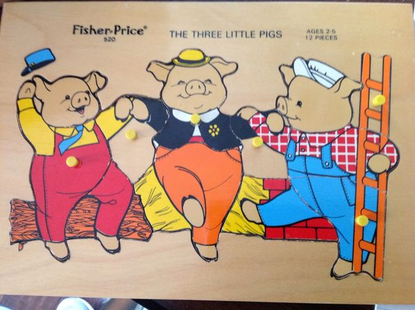 Three Little Pigs 1972 Vintage Puzzle