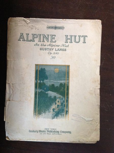 Vintage Sheet Music Alpine Hut