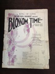 Vintage Sheet Music Blossom Time