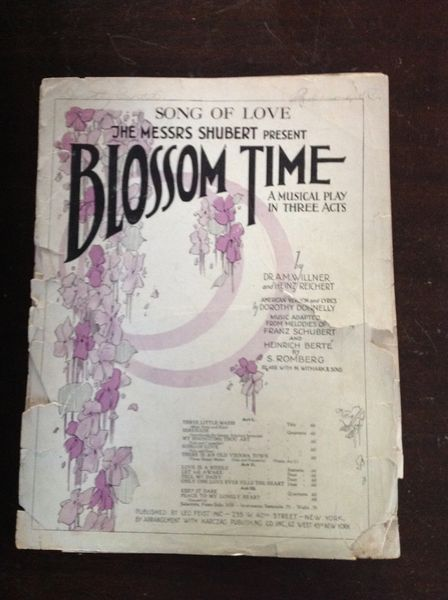 Vintage Sheet Music Blossom Time