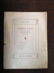 Vintage Sheet Music Childhood Fancies