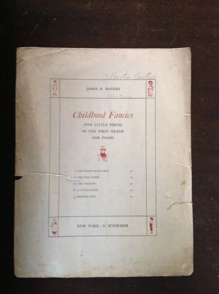 Vintage Sheet Music Childhood Fancies