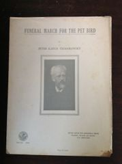 Vintage 1930's Sheet Music Funeral March For The Pet Bird