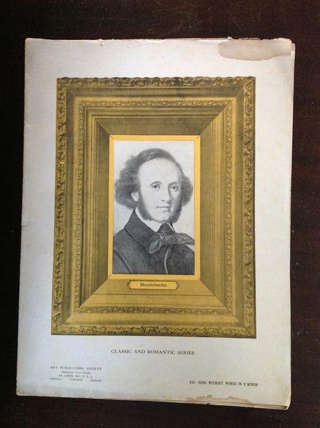 Vintage Sheet Music Mendelssohn