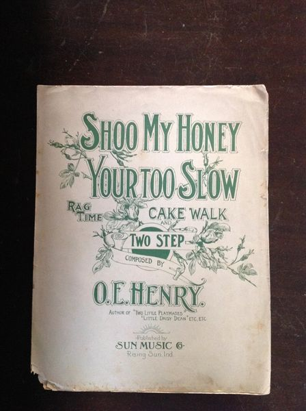 Vintage Sheet Music Shoo My Honey Your Too Slow