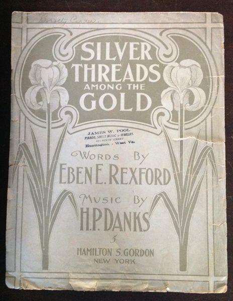 Vintage Sheet Music Silver Threads Among The Gold