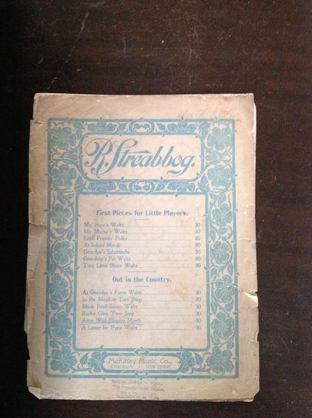 Vintage Sheet Music R.Streabbog