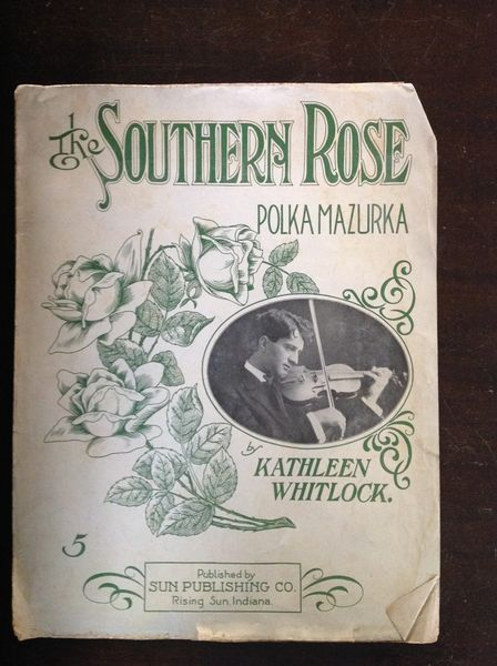 Vintage Sheet Music the Southern Rose