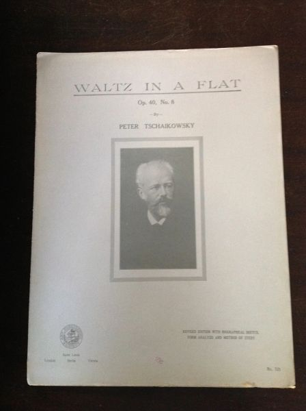 Vintage Sheet Music Waltz In A Flat