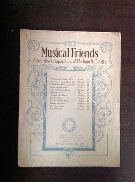 Vintage Sheet Music Musical Friend