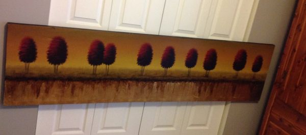 Wall Art Trees In Reflective Pond