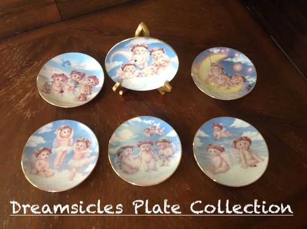 The Hamilton Collection Dreamsicles Plate Collection By Kristen
