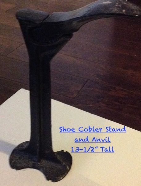 Antique Shoe Cobbler Stand And Anvil (2 different ones)
