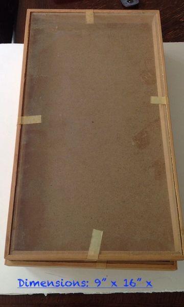 "Antique Display Case | 16"" x 9"" | 4 pieces"