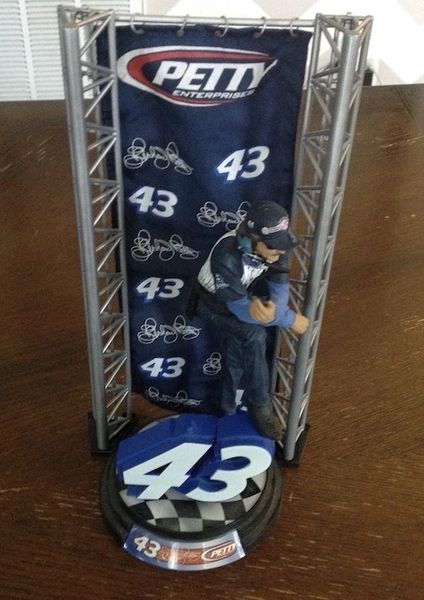 Richard Petty #43 Figurine and Display Stand