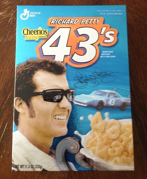 Collectable Richard Petty 43's Cheerios Cereal