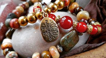Natural Stone Beaded Bracelets. Intentions Jewelry. Handcrafted by and for Mindful Intentions.