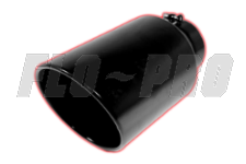 FLO~PRO Black Exhaust Tips Rolled Angle