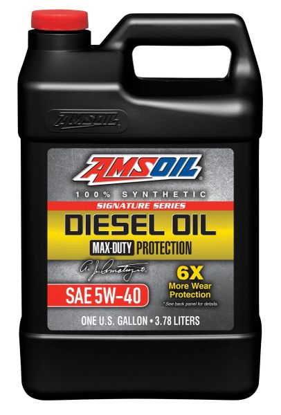 AMSOIL Signature Series Max-Duty Synthetic Diesel Oil 5W-40 (DEO)
