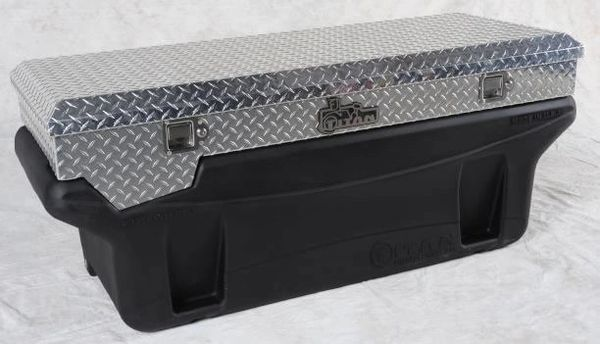 Titan Fuel Tanks Compact Locking, Aluminum Diamond Plate, Toolbox