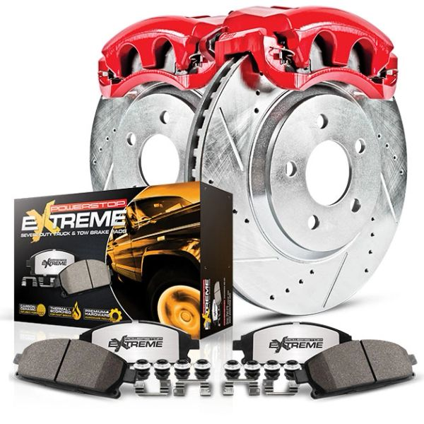 PowerStop Z36 Truck & Tow Brake Kit - Calipers, Rotors, Braks Pads