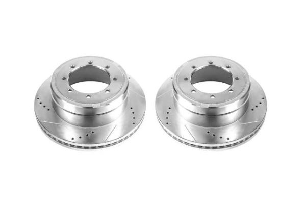 Power Stop Brakes >> Power Stop Cross Drilled And Slotted Brake Rotor Rear Pair 2013 2017 Super Duty Drw