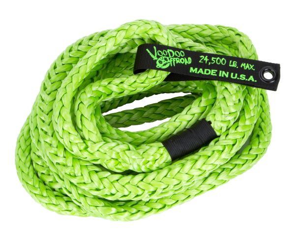 VooDoo Off-Road 3/4 x 30' Kinetic Rope with Loop Ends in Green or Charcoal Gray 3/4 x 30' Kinetic Rope with Loop Ends in Green or Charcoal Gray
