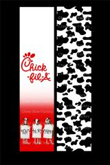 Chick-Fil-A Cheer Bow Ready to Press Sublimation Graphic