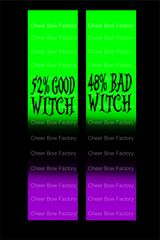 Good Witch Bad Witch Cheer Bow Ready to Press Sublimation Graphic