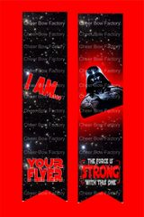 I Am Your Flyer Star Wars Cheer Bow Ready to Press Sublimation Graphic