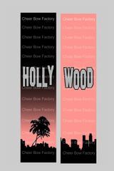 Hollywood Cheer Bow Ready to Press Sublimation Graphic