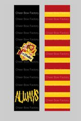 Gryffindor Harry Potter Cheer Bow Ready to Press Sublimation Graphic