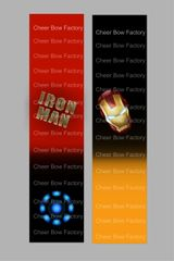 Iron Man Cheer Bow Ready to Press Sublimation Graphic