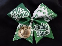 This is my Lucky Bow Cheer Bow