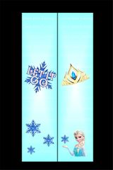 Frozen Let it Go Cheer Bow Ready to Press Sublimation Graphic