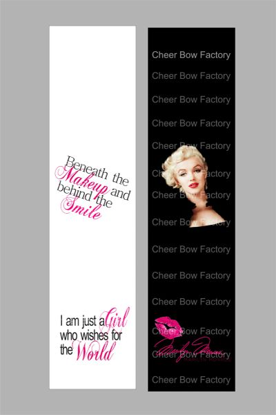 Marilyn Monroe Beneath the Makeup Cheer Bow Ready to Press Sublimation Graphic