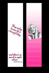 Marilyn Monroe Keep Smiling Cheer Bow Ready to Press Sublimation Graphic