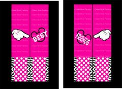 Mickey Pink Best Friends (2 bows) Cheer Bow Ready to Press Sublimation Graphic