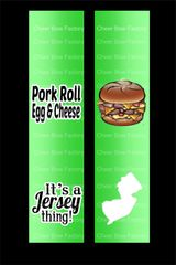 Pork Roll Egg & Cheese Jersey Cheer Bow Ready to Press Sublimation Graphic