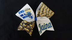 One In A Minion Cheer Bow