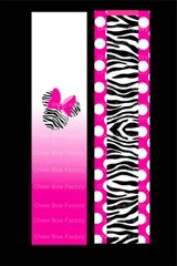 Minnie Mouse Zebra Cheer Bow Ready to Press Sublimation Graphic