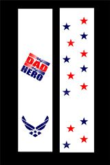 My Dad is my Hero Air Force Cheer Bow Ready to Press Sublimation Graphic