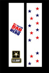 My Dad is my Hero U.S. Army Cheer Bow Ready to Press Sublimation Graphic