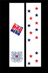 My Dad is my Hero Coast Guard Cheer Bow Ready to Press Sublimation Graphic